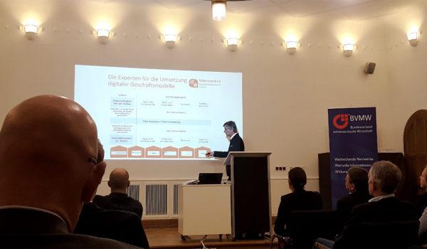 Jörg Becker auf der BVMW-Veranstaltung in Münster (Foto: Ann-Kristin Cordes)