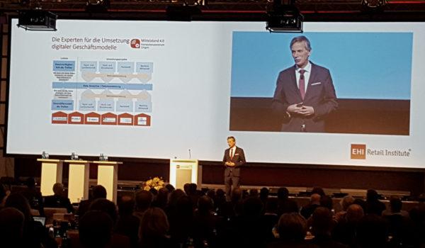 Vorstellung des Mittelstand 4.0-Kompetenzzentrums Lingen auf den EHI Technolgie Tagen (Foto: Ann-Kristin Cordes)