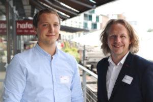 Die Referenten Jan Bömer (shopware) und Daniel Terwesche (ballo.digital).