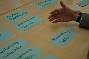 Workshops Ergebnisse des business days.