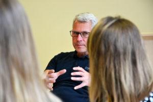 Jens Menke von Cornexion im Gespräch mit Start-ups, die wissen wollen, wie Investoren ticken.