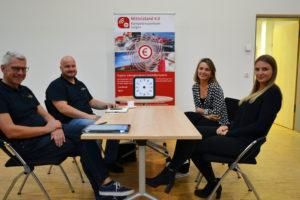 Auch über die Digitale Plattform von Marie-Charlott Espinola und Sarah Kruse (v.r.) wurde mit Cornexion gesprochen.