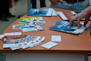 Auch das Mittelstand 4.0 Kompetenzzentrum Lingen war mit einem Informationsstand vertreten.