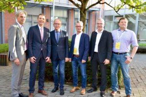Organisatoren, Sprecher und Vertreter aus Politik. v.l.n.r. Michael Schnaider, Stefan Altmeppen, Martin Gerenkamp, Markus Kottwitz, Mark Schönrock und Frank Solinske.
