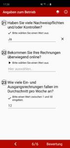Beispielfragen der App.