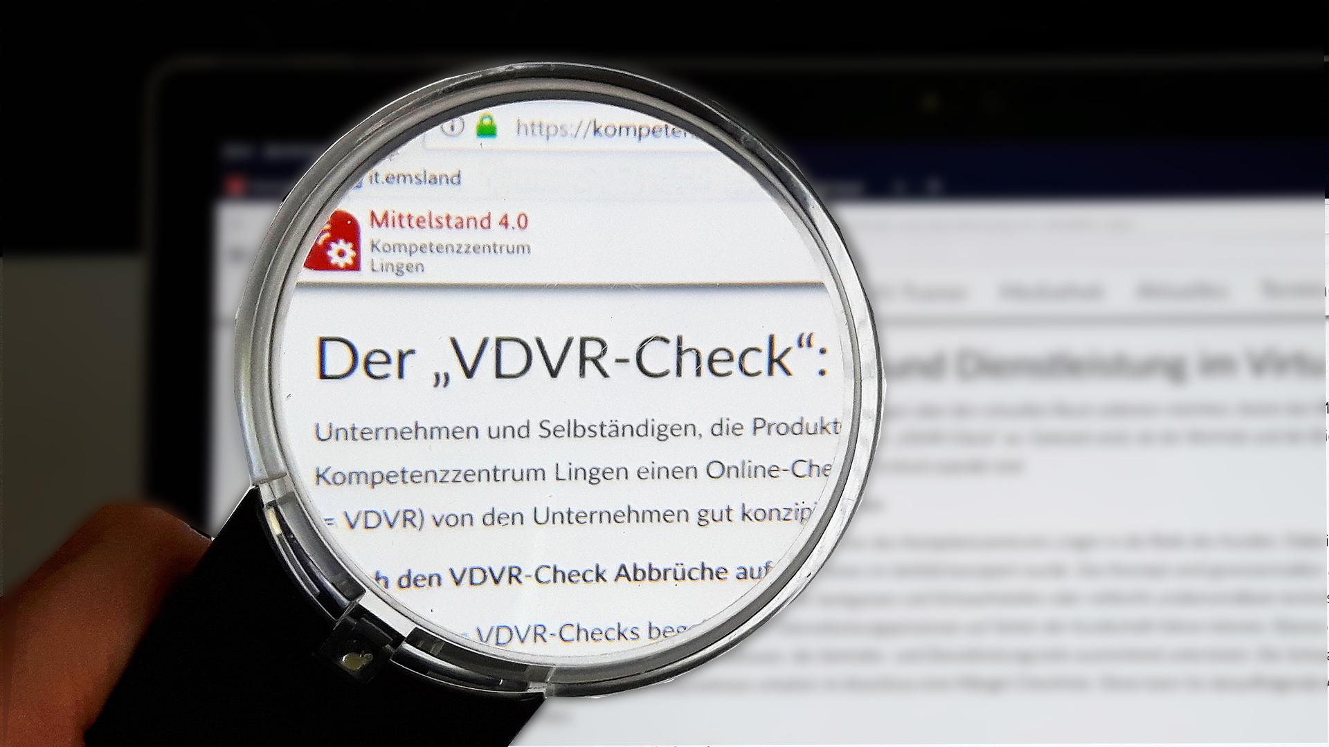 VDVR-Check für Unternehmen