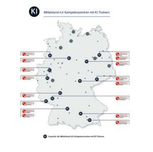 Die Standorte der KI-Trainer in Deutschland.