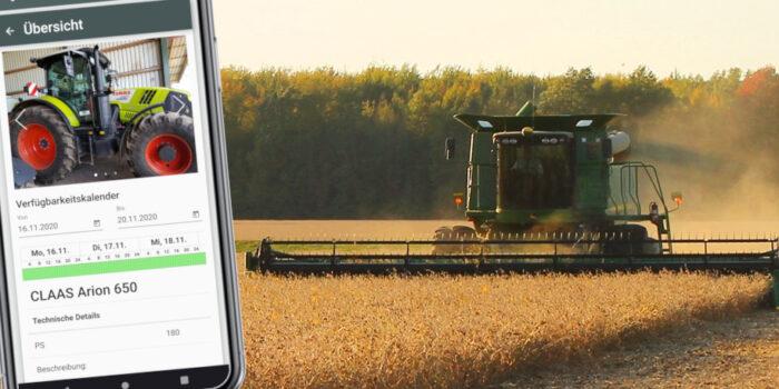 Digitale Landmaschinenvermietung